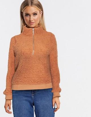 Brave Soul lina sweatshirt in borg
