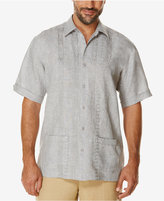 Cubavera Men's Embroidered Dual-Pocket 100% Linen Short-Sleeve Shirt