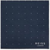 Reiss Planet Silk Twill Pocket Square