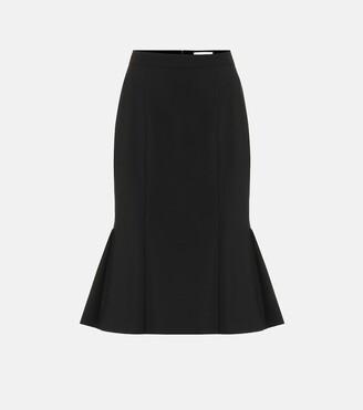 Alexander McQueen Stretch-wool skirt