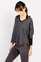 Saint Grace Copy of Compass Oversized V Top in Black