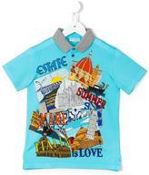 Dolce & Gabbana Summer Love Italy polo shirt - kids - Cotton - 4 yrs