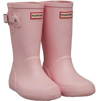 Hunter Infant Girls Flat Sole Wellington Boots Candy Floss