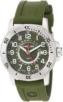 Wenger Men's 'Off Road GMT' Swiss Quartz Stainless Steel and Silicone Casual Watch, Color:Green (Model: 01.1342.103)