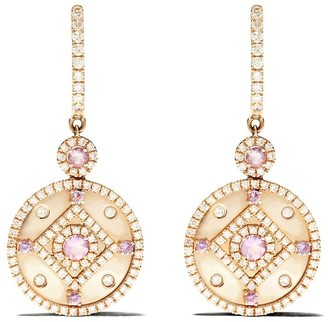 Kiki McDonough 18kt yellow gold Jemima lavender amethyst and diamond detachable earrings