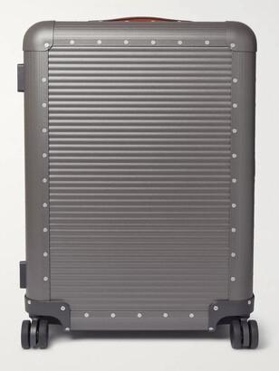 FPM Milano Spinner 68cm Leather-Trimmed Aluminium Suitcase - Men - Gray