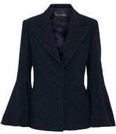 Oscar de la Renta Metallic Wool-blend Crepe Blazer
