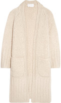 Chloé Chunky-knit Mohair, Wool And Cashmere-blend Cardigan - Cream