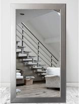32 in. x 66 in. Mod Euro Silver Framed Mirror