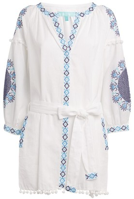Melissa Odabash Tassel Trime Eliza Belted Dress