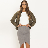 Grey High Waisted Skirt - ShopStyle Australia