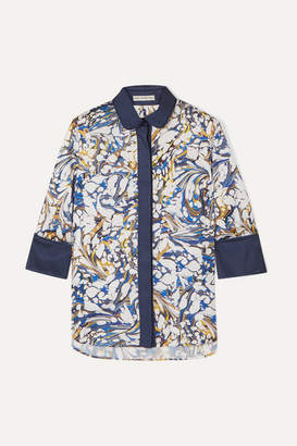 Mary Katrantzou Rita Printed Twill Shirt - Blue