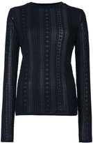Oscar de la Renta lace stitch lined jumper - women - Virgin Wool - S