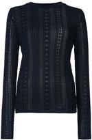Oscar de la Renta lace stitch lined jumper - women - Virgin Wool - XS