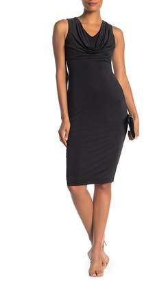 Love by Design Draped Cowl Midi Dress
