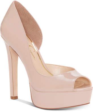 Jessica Simpson Martella Peep-Toe Platform Pumps Women Shoes