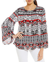 Westbound Bell Sleeve Peasant Top