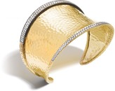 John Hardy Women's Classic Chain 45.5MM Cuff in Hammered 18K Gold with Diamonds