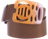 Marni Leather Oversize Buckle Belt