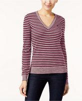 Lacoste Striped V-Neck Sweater