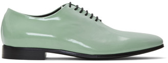 Haider Ackermann Green Classic Lace-Up Derby