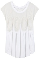 Chloé Lace And Cotton Jersey Blouse