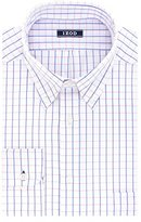 Izod Men's Regular Fit Wiindowpane Check Buttondown Collar Dress Shirt