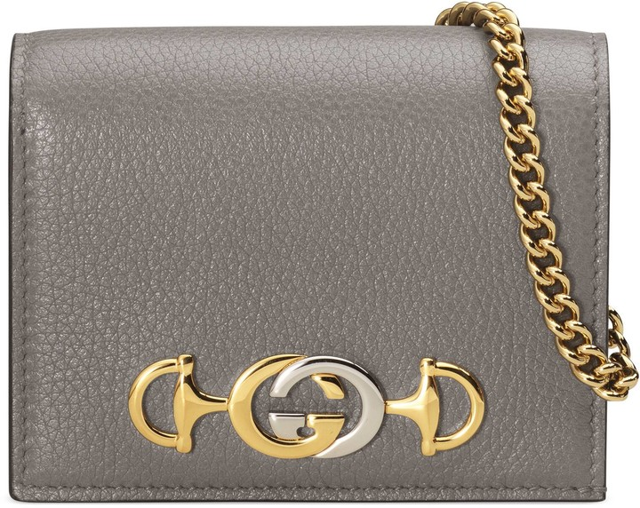 Gucci Zumi grainy leather card case wallet , ShopStyle