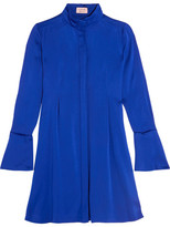 Lanvin Pleated Charmeuse Dress - Bright blue