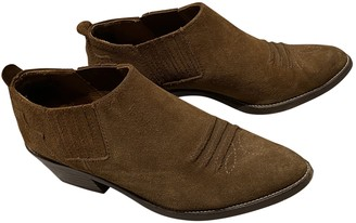 Massimo Dutti Camel Leather Ankle boots