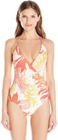 Vince Camuto Women's Crete Flower Bind Surplus One Piece Swimsuit