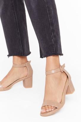 Nasty Gal Womens Gimme the Low Down Faux Leather Kitten Heels - beige - 3