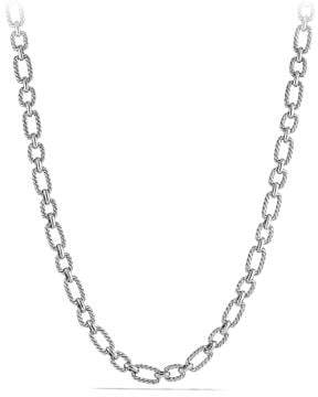 David Yurman Cushion Link Necklace With Blue Sapphires, 9.5Mm