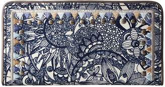 Sakroots Artist Circle Slim Wallet (Navy Spirit Desert) Wallet Handbags