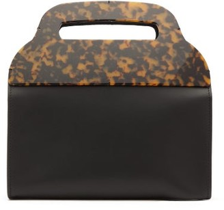 Montunas Tiro Leather And Tortoiseshell-acetate Bag - Womens - Black