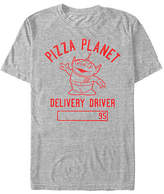 Fifth Sun Pizza Planet Alien Delivery Driver Mens Crew Neck Short Sleeve Toy Story Graphic T-Shirt, Small , Gray