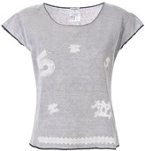 Chanel Pre Owned lace patches layered T-shirt