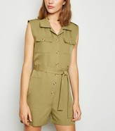 New Look Cameo Rose Sleeveless Utility Playsuit