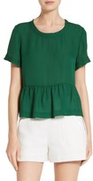 Veronica Beard Women's Betts Silk Peplum Top