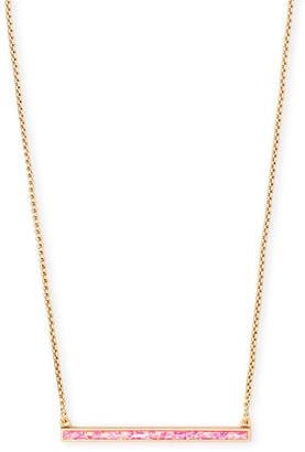 Kendra Scott Kelsey Bar Pendant Necklace w/ Opal