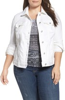 Lucky Brand Plus Size Women's Floral Trucker Jacket