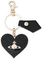 Vivienne Westwood heart keyring - unisex - Leather/Brass - One Size