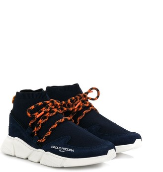 Paolo Pecora Kids Lace-Up Sock Trainers