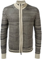 Maison Margiela zip knitted cardigan - men - Cotton/Polyester - S