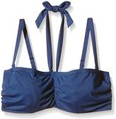 Moontide Women's Contours U/W Powermesh Bandeau (Non Padded) Underwired Plain Bikini Top