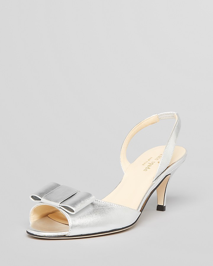 Kate Spade Open Toe Evening Pumps - Emelia Slingback High Heel
