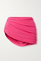 Thumbnail for your product : Norma Kamali Diana Draped Asymmetric Bikini Briefs - Fuchsia