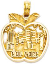 Macy's 14k Gold Charm, Cut-Out New York City Skyline Apple Charm