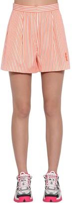 Kenzo Striped Cotton Poplin Shorts