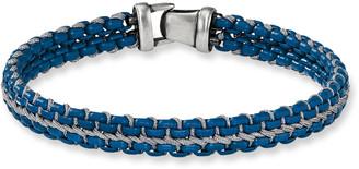 David Yurman Men's 10mm Woven Box Chain Bracelet, Navy